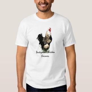 Granjero del pollo del patio trasero con diseño remera