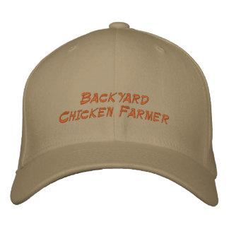 Granjero del pollo del patio trasero gorra bordada