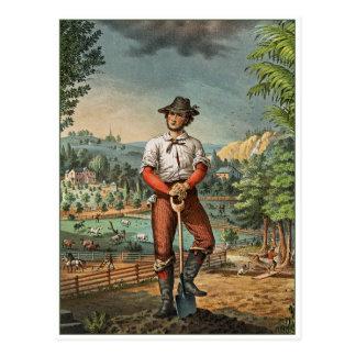 Granjero del terrateniente postal