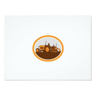 """Granjero del tractor de granja del vintage que ara invitación 6.5"""" x 8.75"""""""