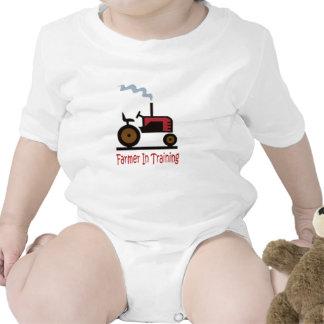 Granjero en el entrenamiento trajes de bebé