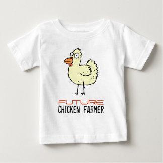 Granjero futuro del pollo remera