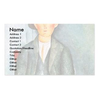 Granjero joven de Modigliani Amedeo Plantillas De Tarjetas De Visita