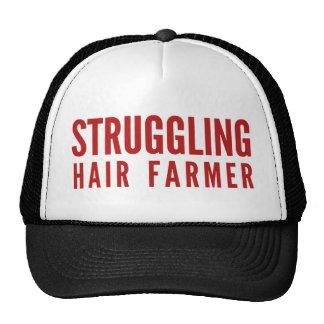 Granjero luchador del pelo gorras