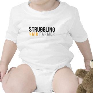 Granjero luchador del pelo traje de bebé