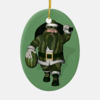 Granjero Papá Noel de la sandía Adorno Para Reyes