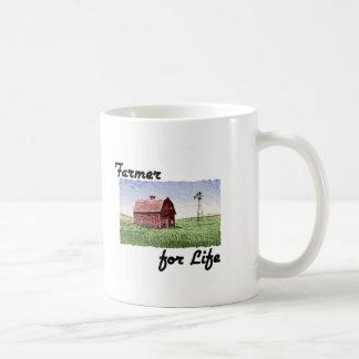 Granjero para la vida taza de café