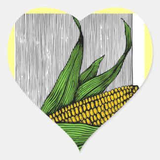 granjero calcomanías de corazones personalizadas