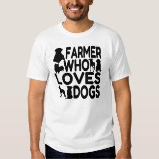 Granjero que ama perros playera