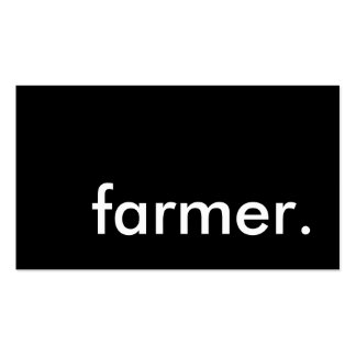 granjero tarjetas de visita