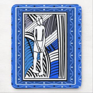 Granjero tribal - arte de Aftrican Tapete De Raton
