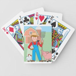 Granjero y cerdo baraja de cartas