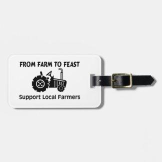 Granjeros de la ayuda de la granja a festejar etiquetas bolsas