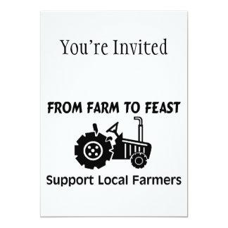"""Granjeros de la ayuda de la granja a festejar invitación 5"""" x 7"""""""