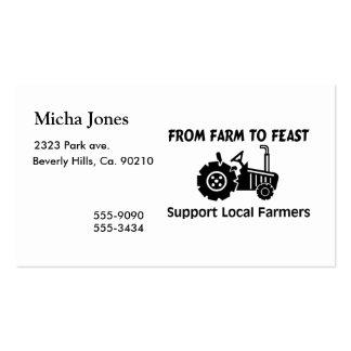 Granjeros de la ayuda de la granja a festejar tarjetas personales