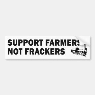 Granjeros de la ayuda, no Frackers (blanco) Etiqueta De Parachoque