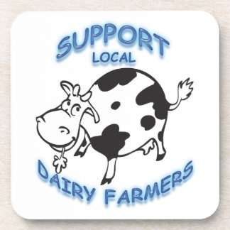 Granjeros de lechería locales de la ayuda posavasos de bebida