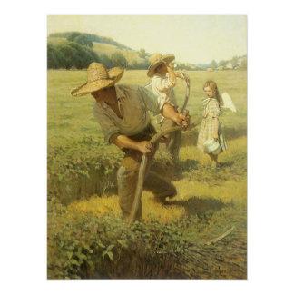Granjeros del vintage, de nuevo a la granja por NC Perfect Poster