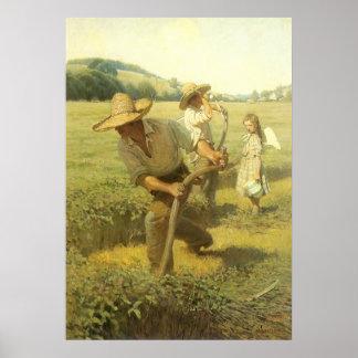 Granjeros del vintage, de nuevo a la granja por NC Póster