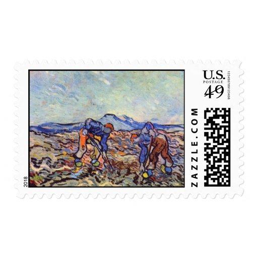 Granjeros en el trabajo de Vincent van Gogh Envio