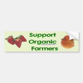 Granjeros orgánicos pegatina para auto