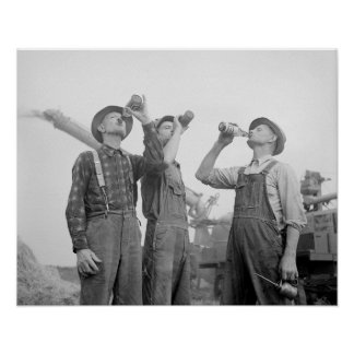 Granjeros que beben a Beer 1941