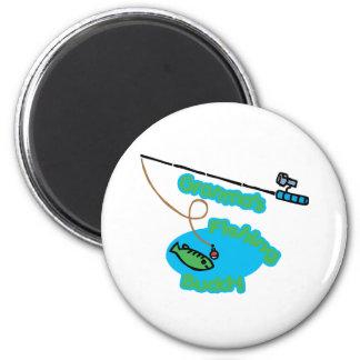Granma' compinche de la pesca de s imán redondo 5 cm