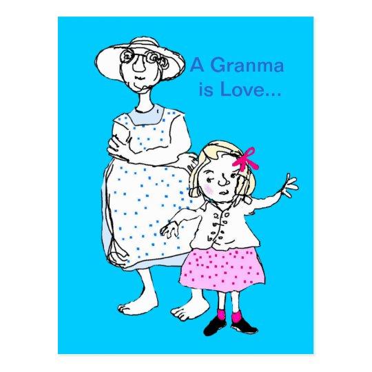 Granma is Love Postcard