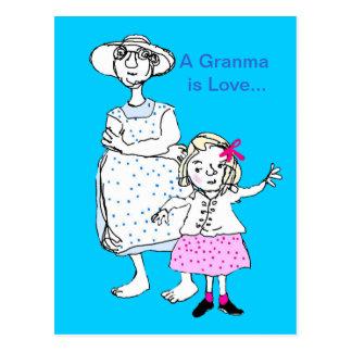 Granma is Love Postcards