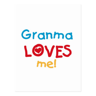 Granma Loves Me T-shirts and Gifts Postcard