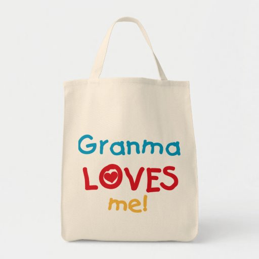 Granma Loves Me T-shirts and Gifts Tote Bags
