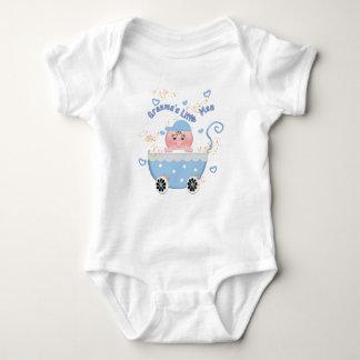 Granma's Little Man Blue Stroller Infant Creeper