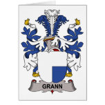 Grann Family Crest Greeting Card