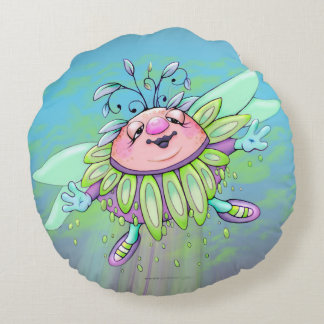GRANNA SUNNY ALIEN Brushed Polyester Round pillow