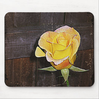 Grannie's yellow rose mouse pad
