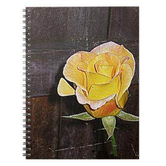 Grannie's yellow rose notebook