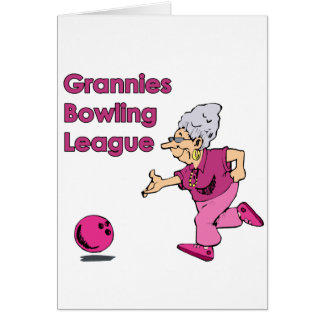 Grannies bowling league card
