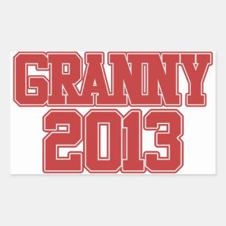 Granny 2013 rectangular stickers