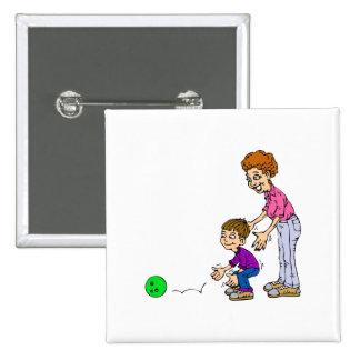 Granny & Boy Bowling Pinback Button