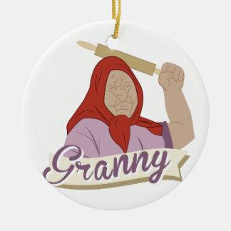 Granny Ceramic Ornament