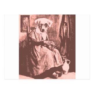 Granny Dog Postcard