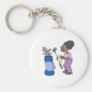 Granny Golfer Keychains