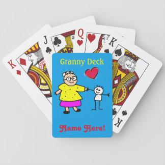 Granny Grandma Fun Personalize Name Playing Cards