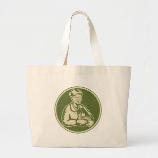 Granny Grandmother Cooking Mixing Bowl Tote Bags