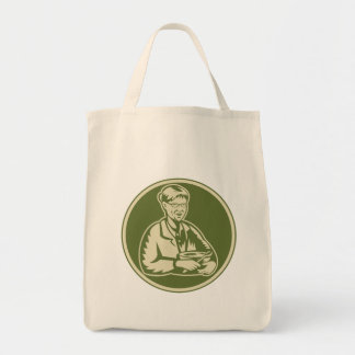Granny Grandmother Cooking Mixing Bowl Canvas Bag