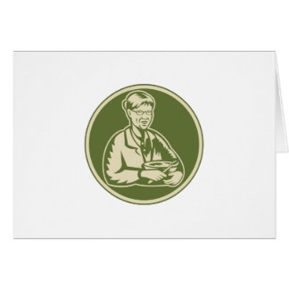 Granny Grandmother Cooking Mixing Bowl Cards
