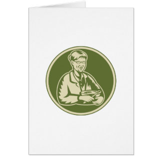 Granny Grandmother Cooking Mixing Bowl Greeting Card