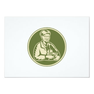 Granny Grandmother Cooking Mixing Bowl 5x7 Paper Invitation Card