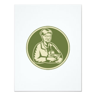 Granny Grandmother Cooking Mixing Bowl 4.25x5.5 Paper Invitation Card