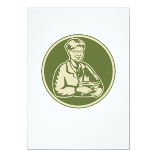 Granny Grandmother Cooking Mixing Bowl 4.5x6.25 Paper Invitation Card